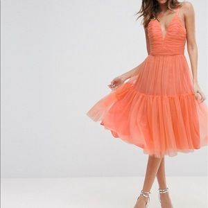 Asos tulle midi dress